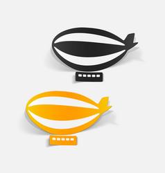 Realistic design element airship vector