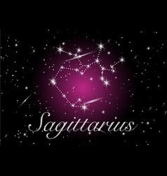 sagittarius zodiac constellations sign vector image