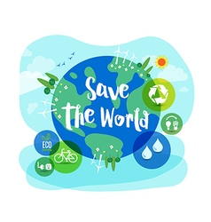 Save the World sustainable development concept vector
