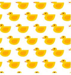 Seamless duck pattern vector