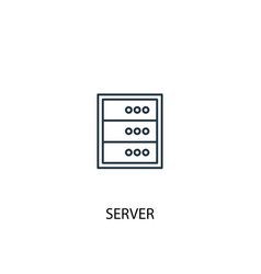 server concept line icon simple element vector image