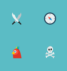 set of corsair icons flat style symbols with vector image
