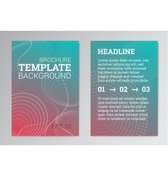 Set poster brochure design templates in green vector