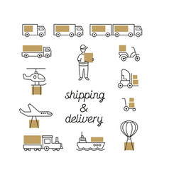 Shipping and delivery vector
