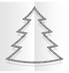 Silver Sequins Christmas Tree Winter New Year vector