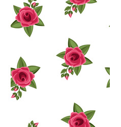 simple seamless floral roses pattern vector image