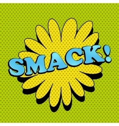 Smack comic wording vector