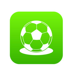 soccer ball icon digital green vector image