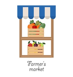 Stand for selling fruit and vegetables vector image