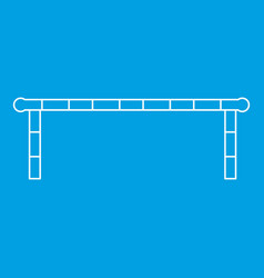 Striped barrier icon outline style vector