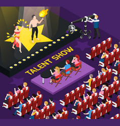 Talent show people composition vector