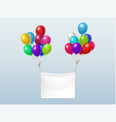 textile banner with colorful balloons vector image