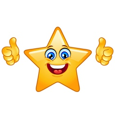 Thumbs up star vector