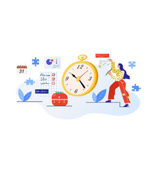 time planning efficient and vector image