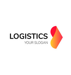 Transport logistic arrow logo delivery vector