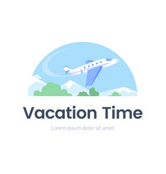 vacation time web banner flat template vector image