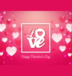 valentines day design with heart and love vector image