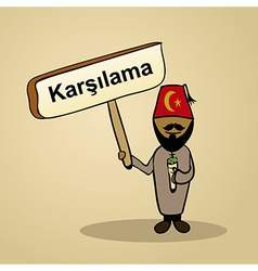Welcome to Turkey people design vector