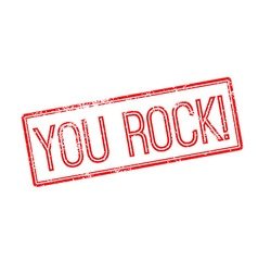 You Rock Red rubber stamp on white vector image