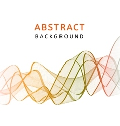 Abstract smooth transparent wavy background vector image vector image