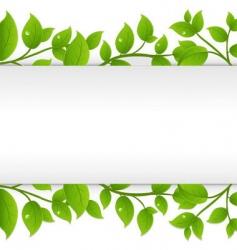 leafy border vector image vector image