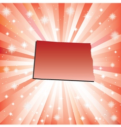 Red North Dakota vector image