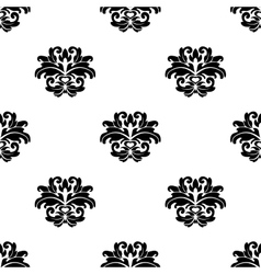 Retro seamless damask pattern vector image