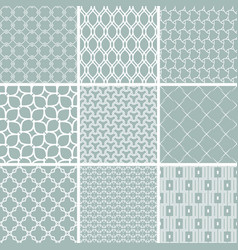 Set of seamless geometric backgrounds vector