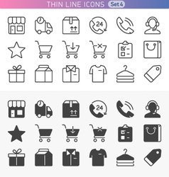 Shopping and money set vector image