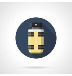 Sport perfumes round color icon vector image