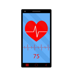 app heart rate monitor on phone vector image