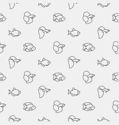 aquarium fish pattern vector image vector image