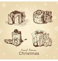 christmas gifts set vector image vector image