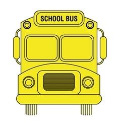 colorful school bus graphic vector image