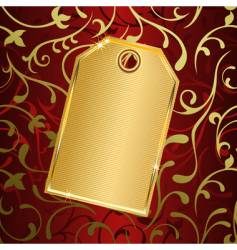 golden tag vector image