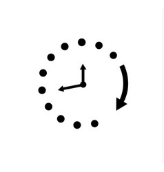 Clock icon in trendy flat style isolated on vector