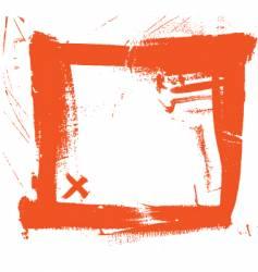 grunge brush strokes frame vector image vector image