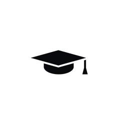 isolated graduation cap icon mortar board vector image