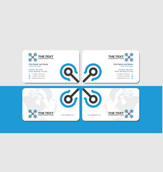 white business card with blue aircraft vector image