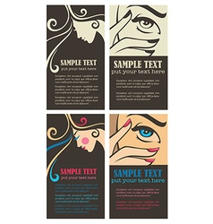 beauty business cards vector image vector image