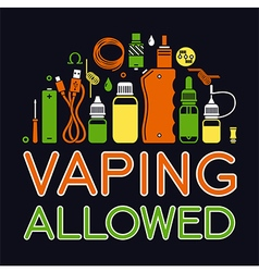 Icons set of Vape vector image
