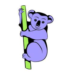 koala icon cartoon vector image