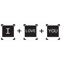 Polaroid I love You vector image vector image