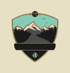 Retro Adventure Emblem vector image vector image
