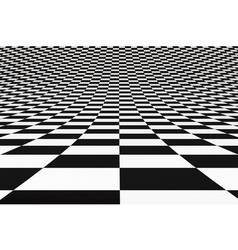 Abstract bent checkered 3D background vector