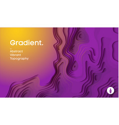 abstract gradient background paper cut 3d vector image