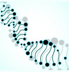 Abstract spiral of dna molecular background vector