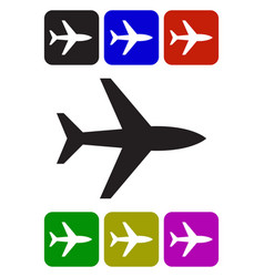 airplane icon airplane icon object vector image