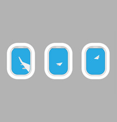airplane windows for your design flat web banner vector image