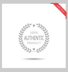 Authentic brand icon vector
